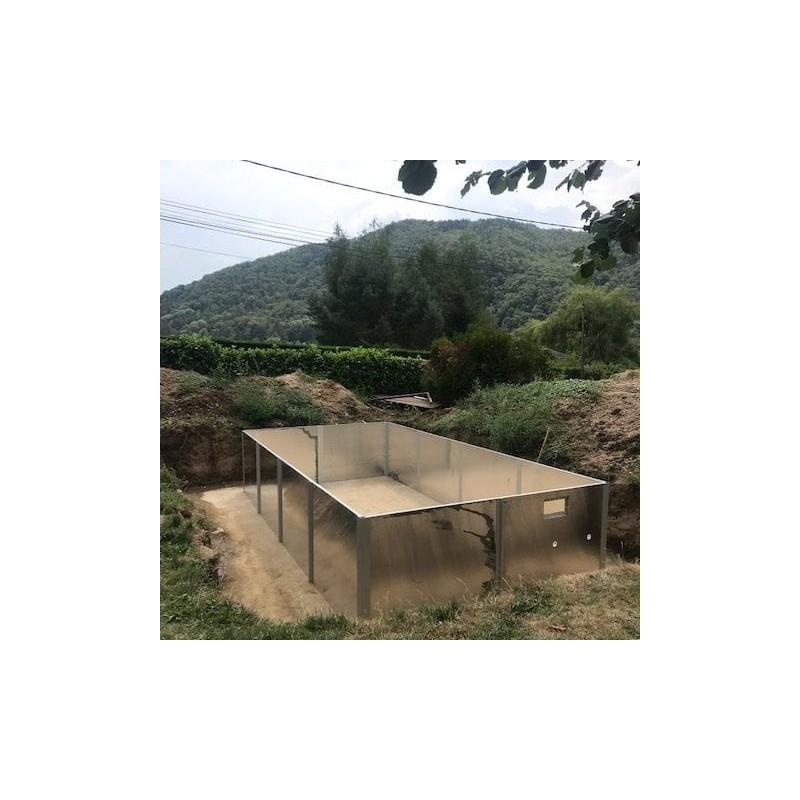 Piscine carré enterré